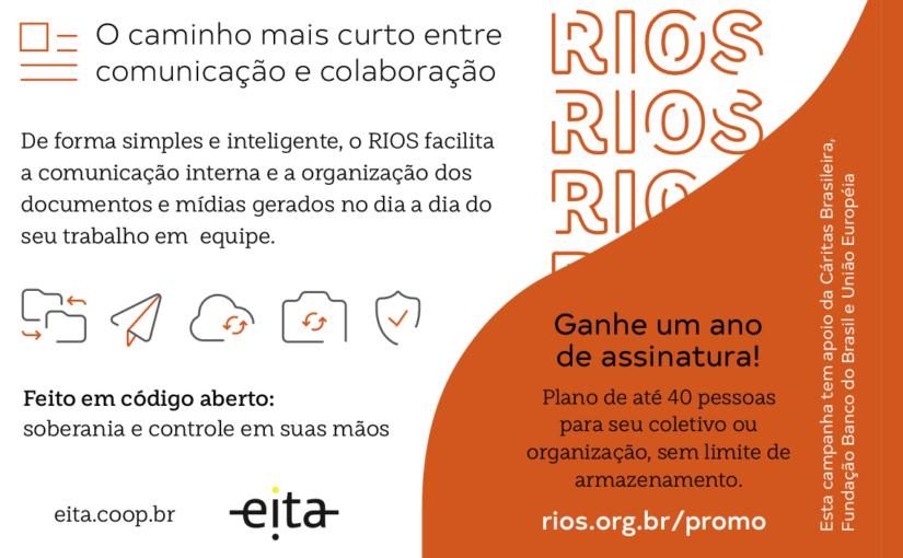Promoção: Ganhe uma assinatura de 1 ano da plataforma RIOS